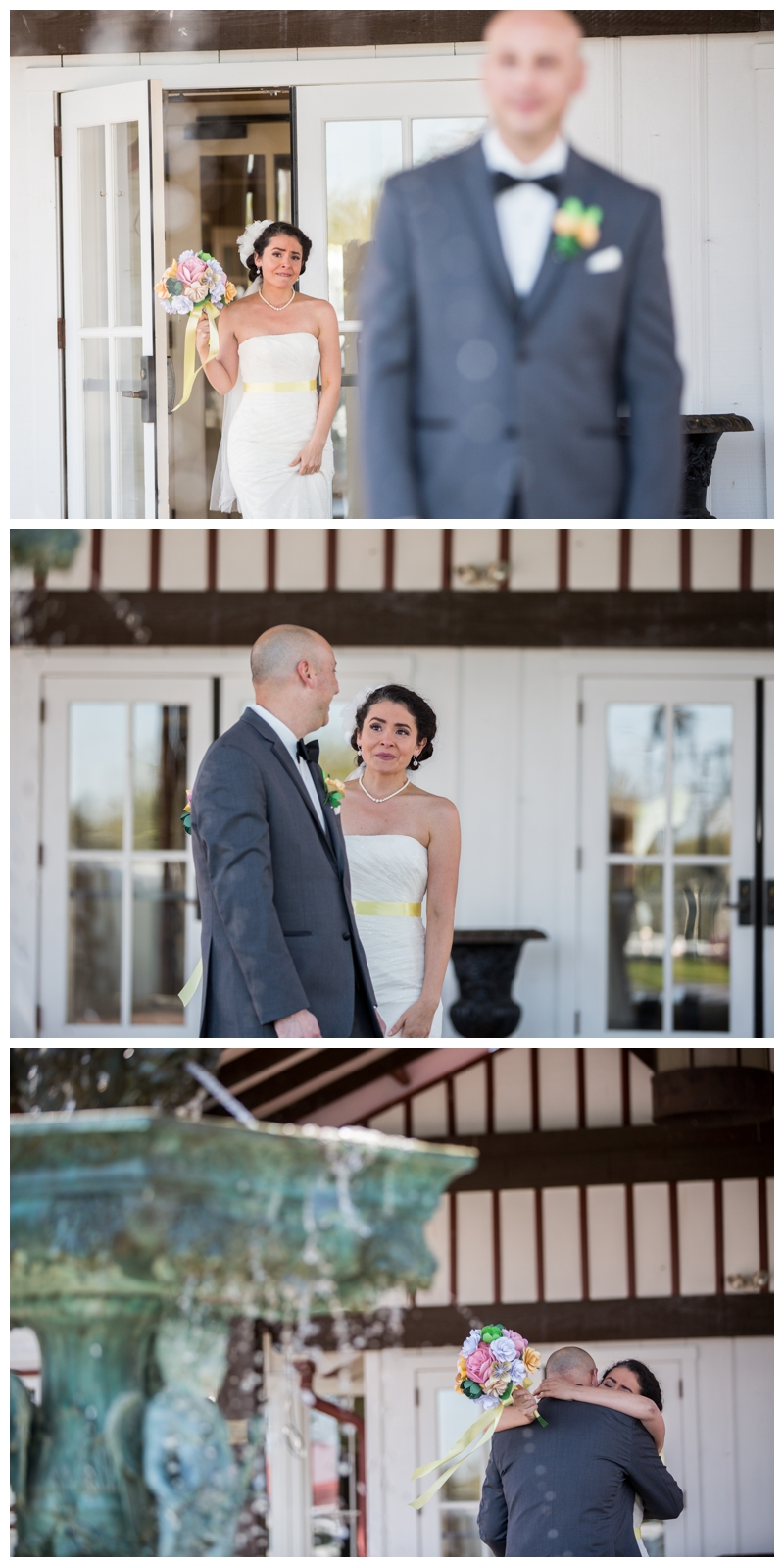 Such an emotional First Look for Marisa and David.
