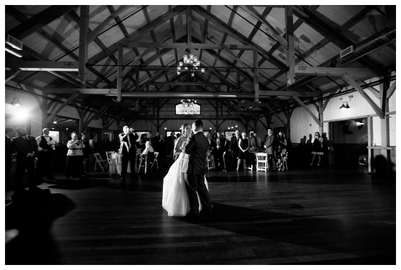 Erin and Roy share their first dance at Rose Bank Winery.
