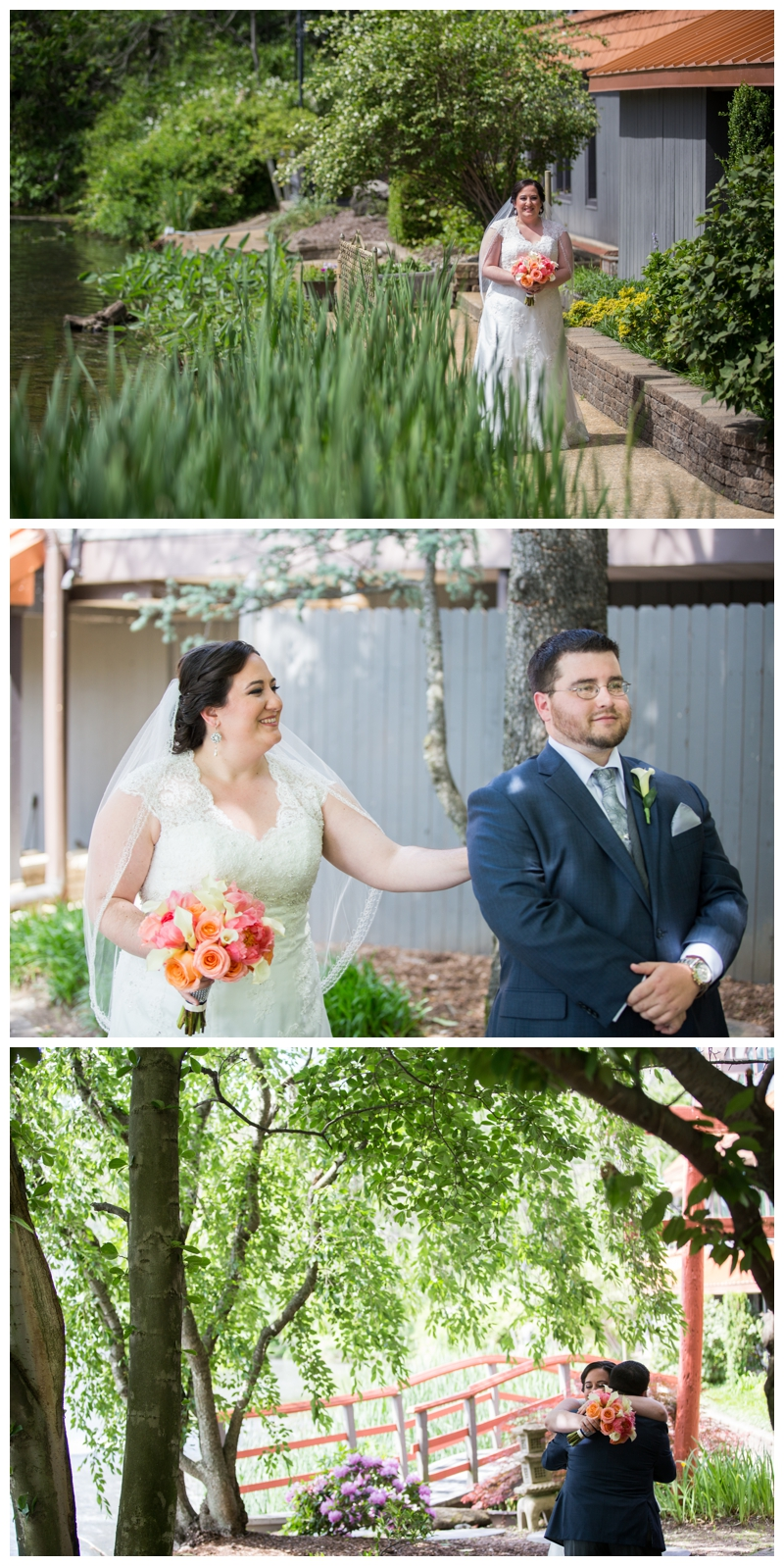 Carla and Bill decided on a First Look before the ceremony so they could get their initial butterflies out.