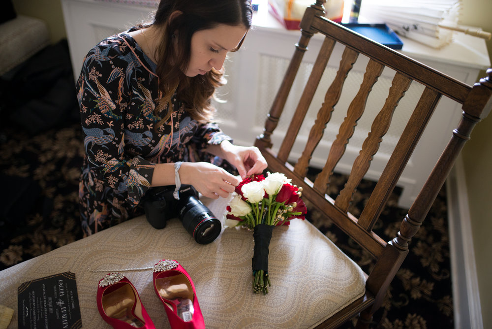 Confession: I  love  shooting all of the details- the bouquet, shoes, jewelry, invitation, gown. So much pretty.