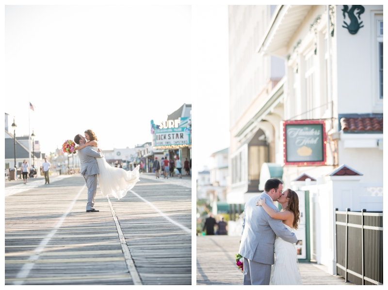 Just married and SO in love on the Ocean City Boardwalk.