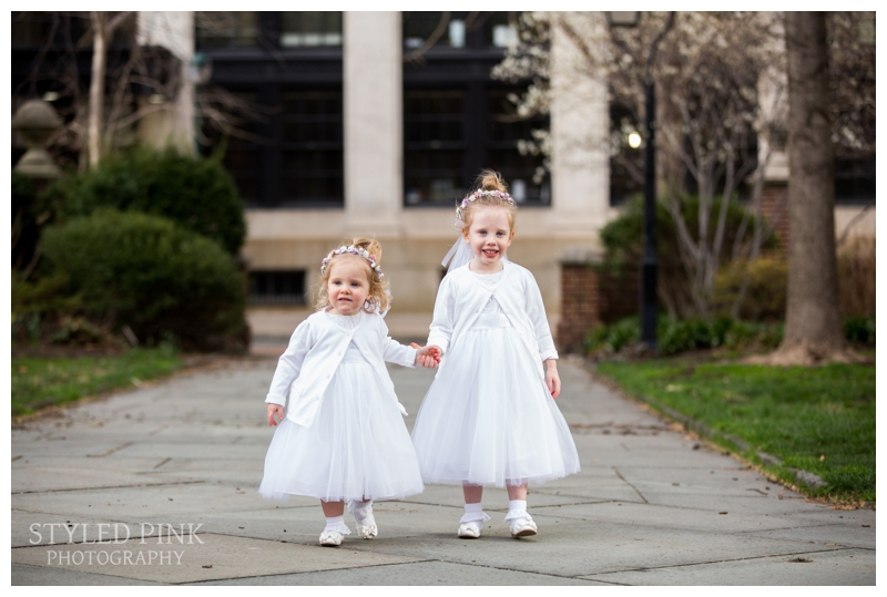 The two sweetest flower girls I've ever seen!