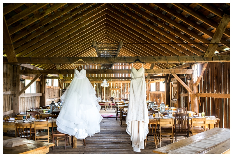 The barn at Fox Hill Farm had the PERFECT lighting to show off Marissa and Jamie's gorgeous dresses.