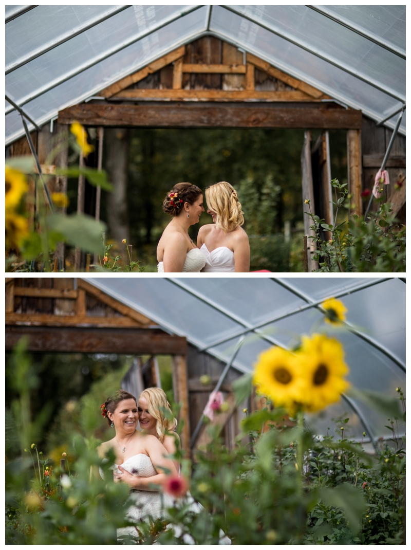 We found a greenhouse filled with gorgeous flowers while taking cover from the rain.