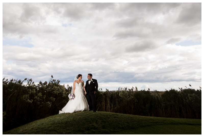 We were chauffeured onto the golf course at the Stockton Seaview with the most gorgeous views, but the clouds this day were begging to be a part of Meredith and KC's story so we had to include them!