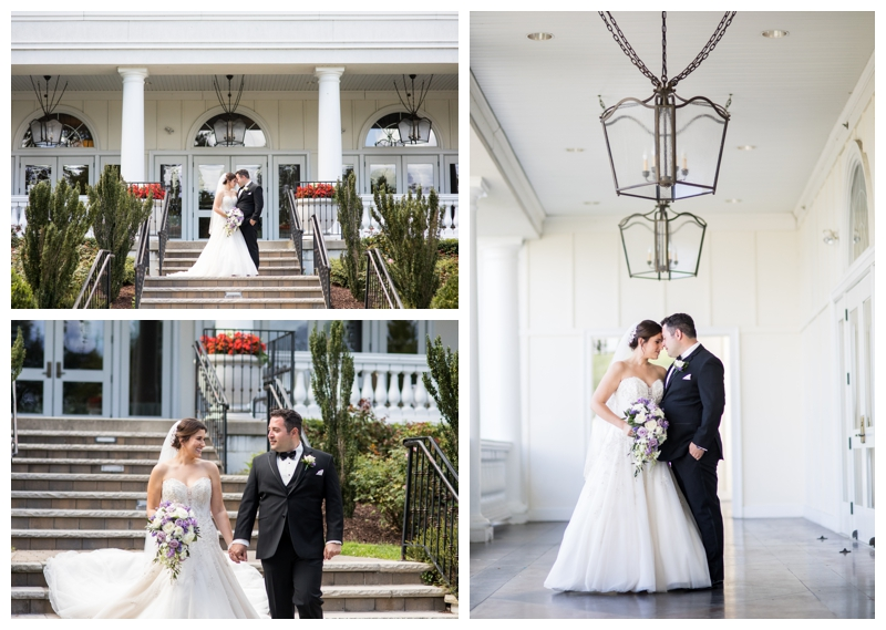 We took bride and groom portraits outside of the Bayview Ballroom before their ceremony.