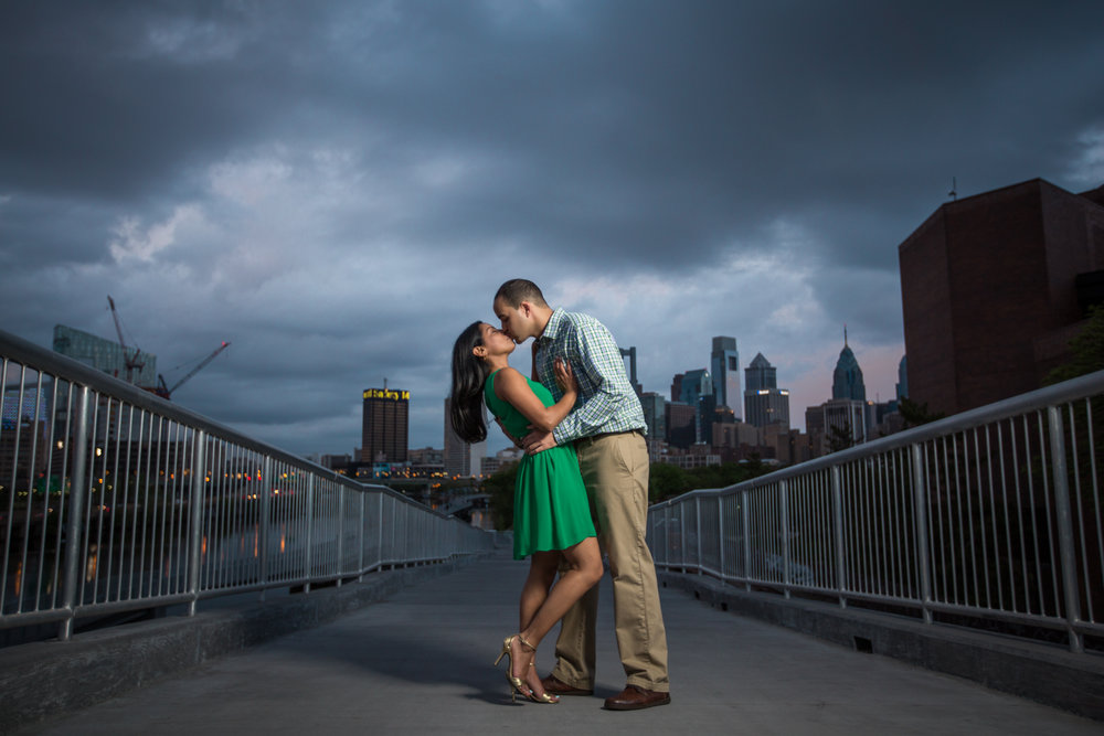 Mike and Rina danced the night away at the South Street Bridge in Philadelphia for their engagement session.