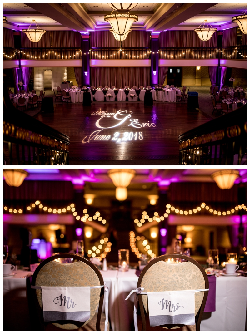 LOVE allll the twinkle lights at the Collingswood Grand Ballroom.
