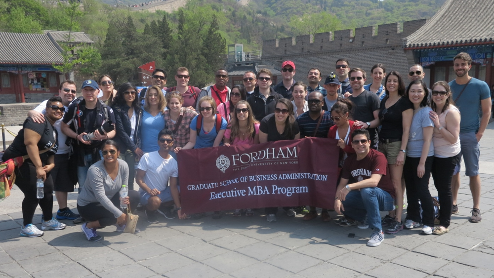 Fordham GBA, EMBA Cohort 10 at The Great Wall