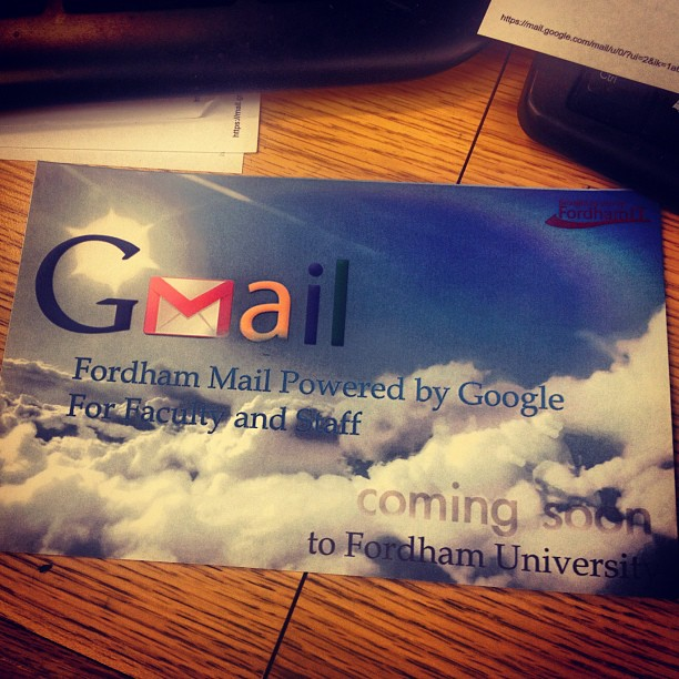 So glad to be getting color postcards hand delivered about changes to my e-mail service.