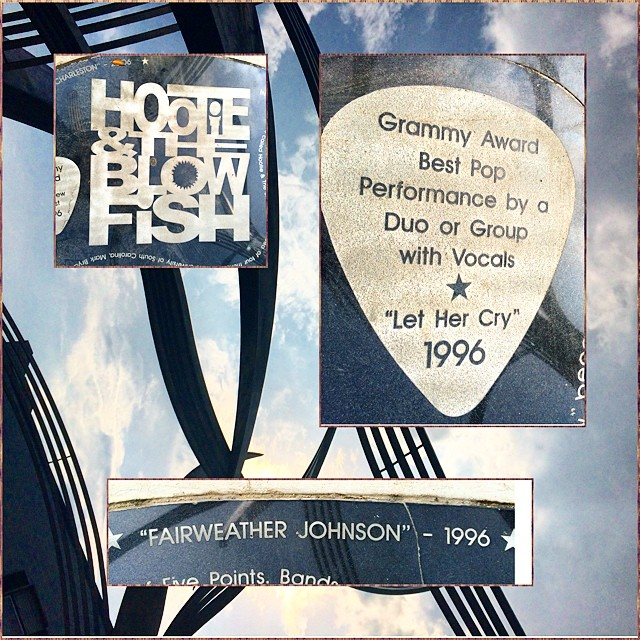 A closer look. #hootie #andtheblowfish #southcarolina #5points #lethercry #1996