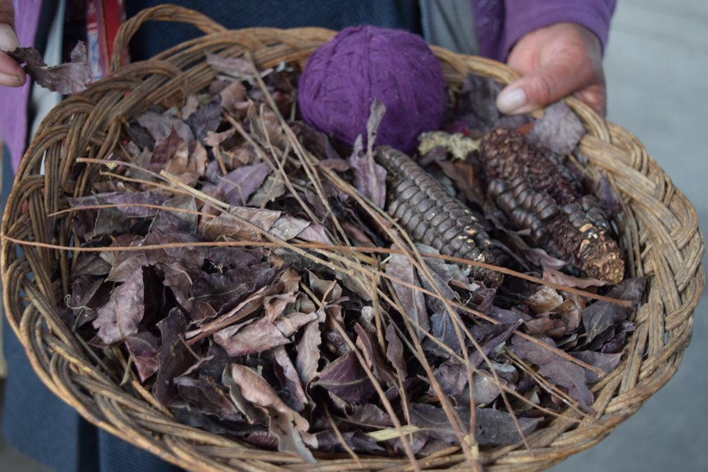 Purple tones come from the Ahuaypili leaf.