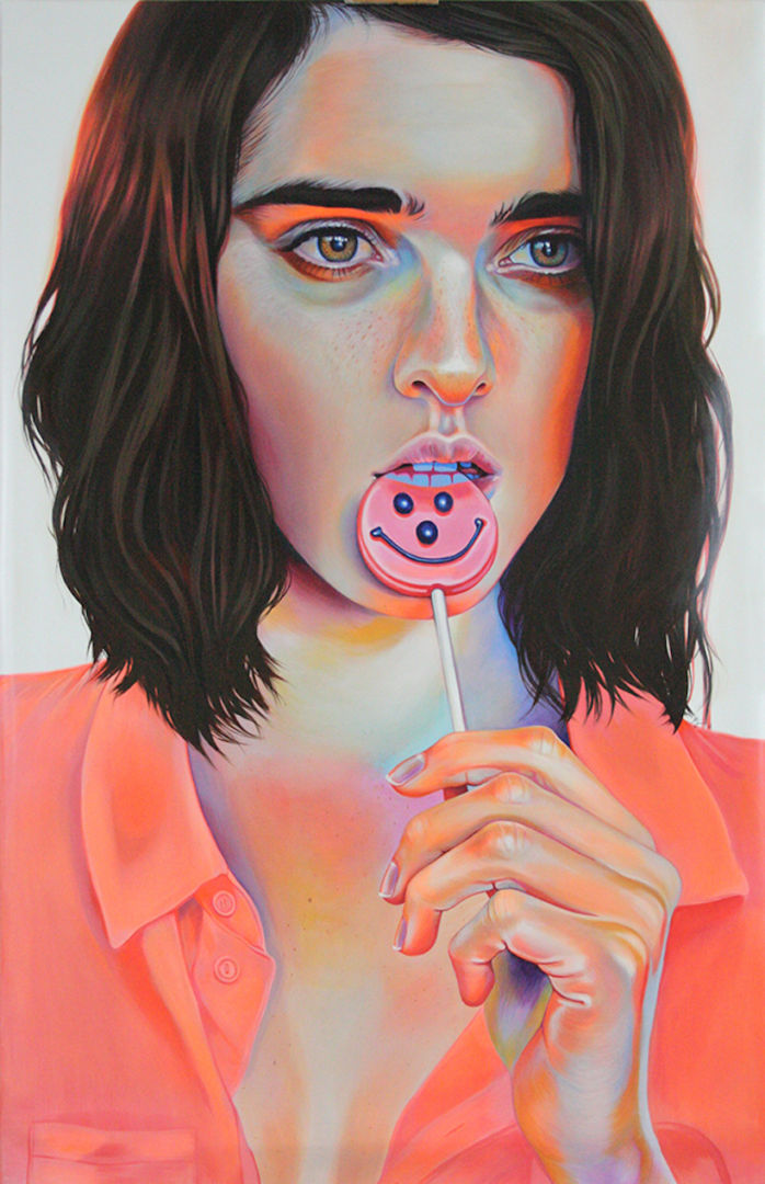 Candy-Colored Portraits of Fierce and Fragile Muses by Martine Johanna, Konbini, June 2016