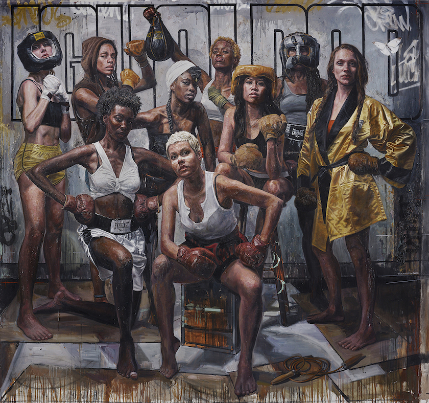 Paintings of Women Who Run the World by Tim Okamura, Konbini, July 2016