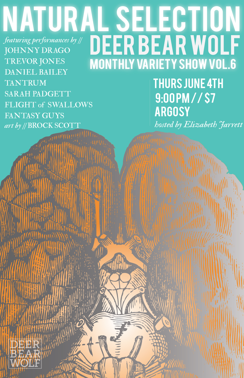 Natural Selection, the Deer Bear Wolf Variety Show, makes its East Atlanta Village debut at Argosy this Thursday, June 4.