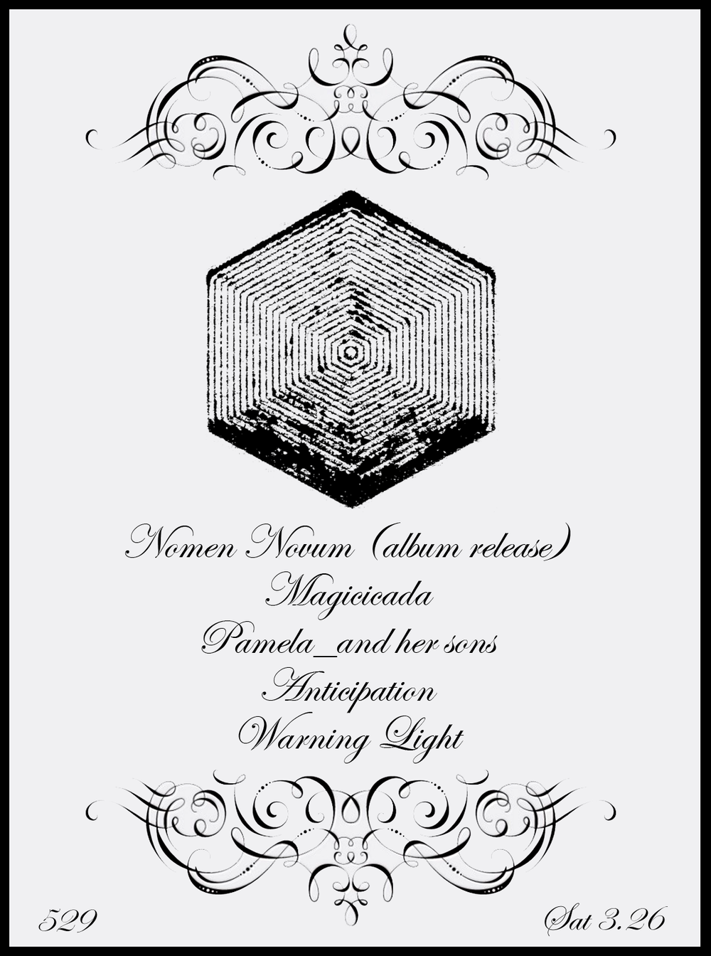 Nomen Novum releases his new album, ATLANTVM, on Deer Bear Wolf Records this Saturday night at 529 with Magicicada, Pamela_ and her sons, Anticipation, and Warning Light.