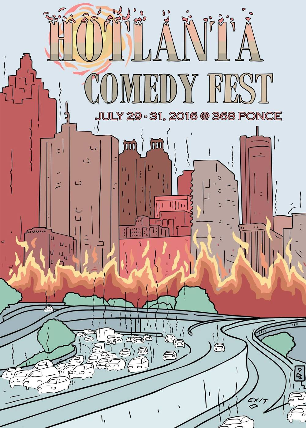 The Comedy Fest is 3 days featuring a multitude of Atlanta comics and organizations at 368 Ponce.
