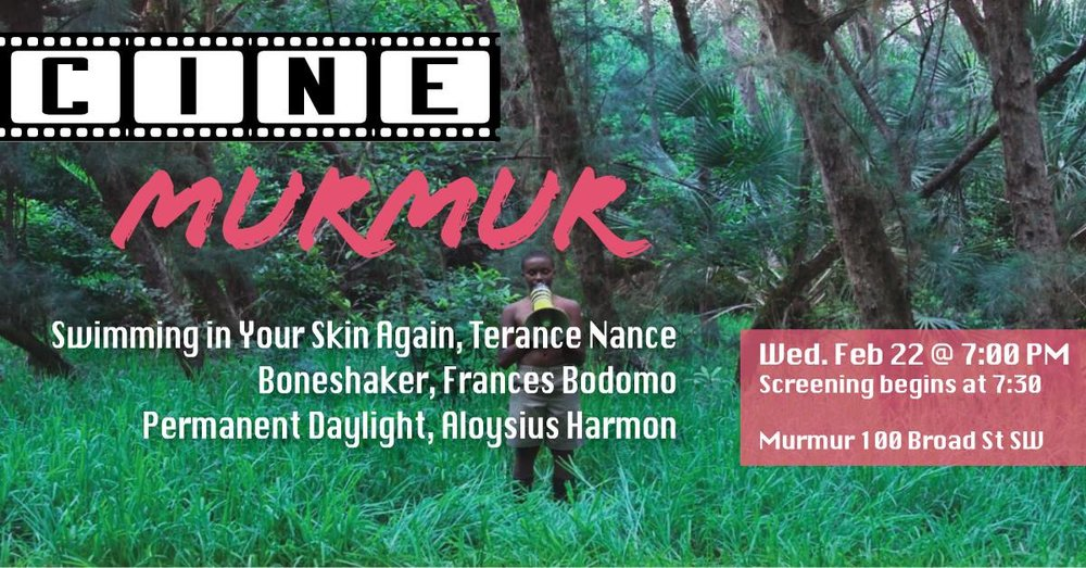 Ciné Murmur is a monthly screening featuring shorts from emerging film makers paired with a feature short or documentary.