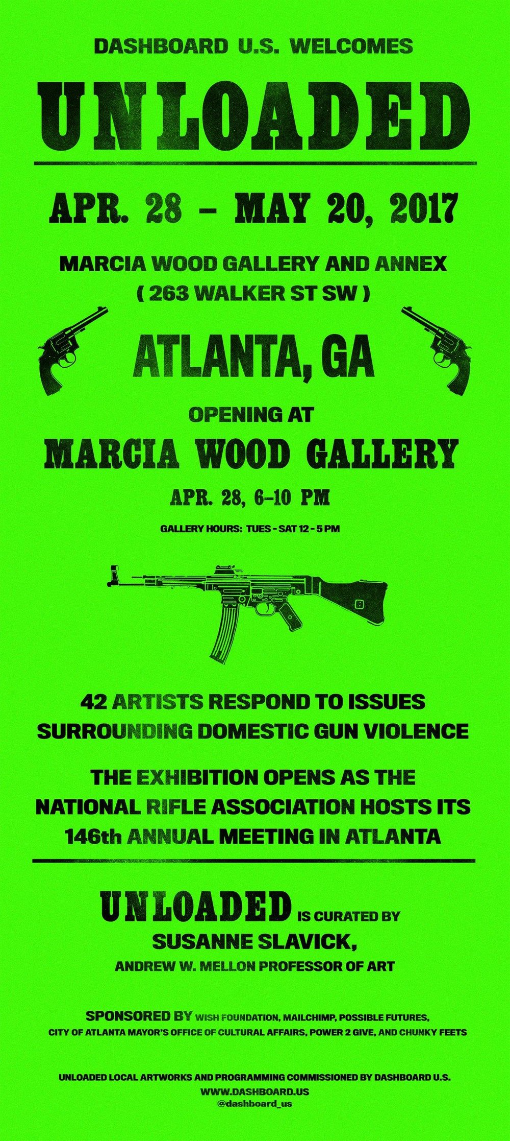 Dashboard unveils Unloaded, a multimedia group show that explores historical and social issues surrounding the availability, use, and impact of guns in our culture, this Friday night at Marcia Wood Gallery.