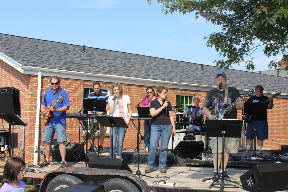 Worship Team at Annual Fall Festival