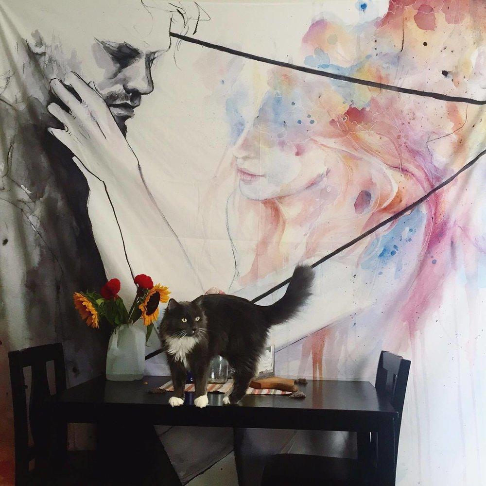 Mok feat. Agnes Ceclie watercolor