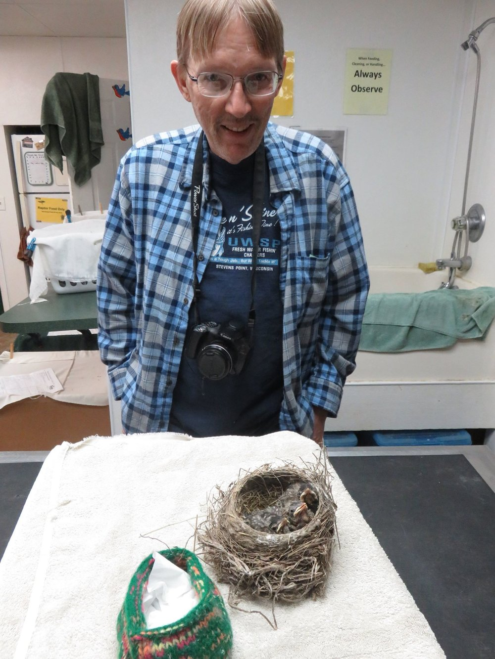 These Robins' nest was on a trailer, and they traveled pretty far before they were found.