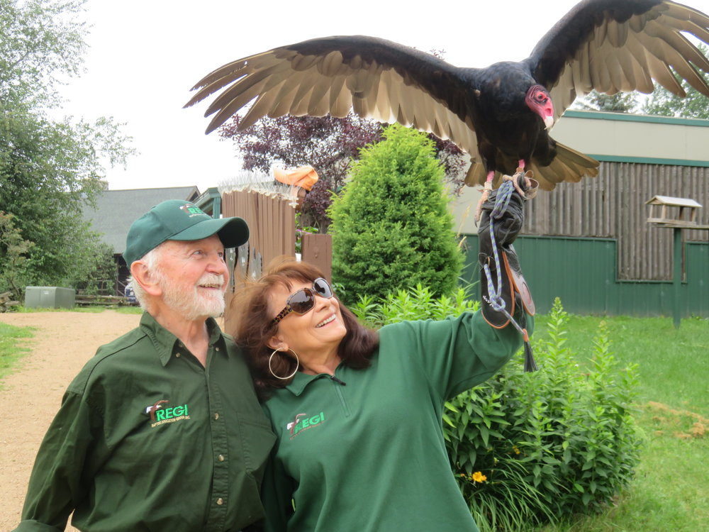 Marge, Don, and Morrie (the turkey Vulture) are looking forward to seeing you!