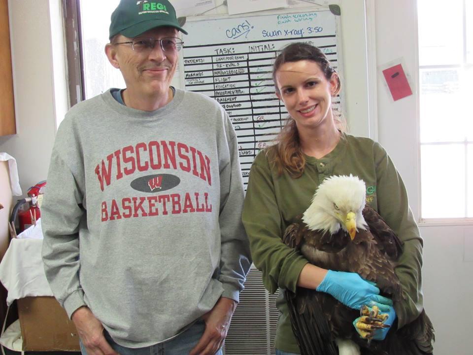 Thanks to John Molski for transporting the Bald eagle to REGI.