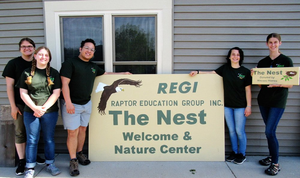 "Interns at the intern house ""The Nest"" donated by  Wausau Homes Wausau . what an amazing gift it continues to be. Interns l.to rt. Regina, Addison, Rafael, Johanna, Brittanie Thank you Wausau Homes from all of us!"
