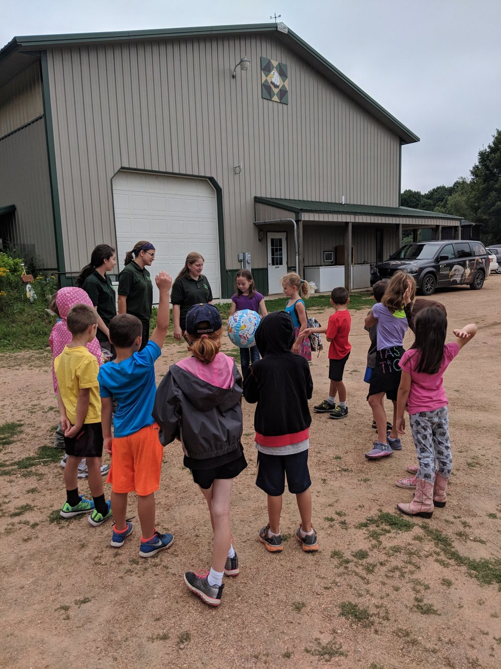 Campers got to know each other on Day 1 by playing a fun ice breaker game.