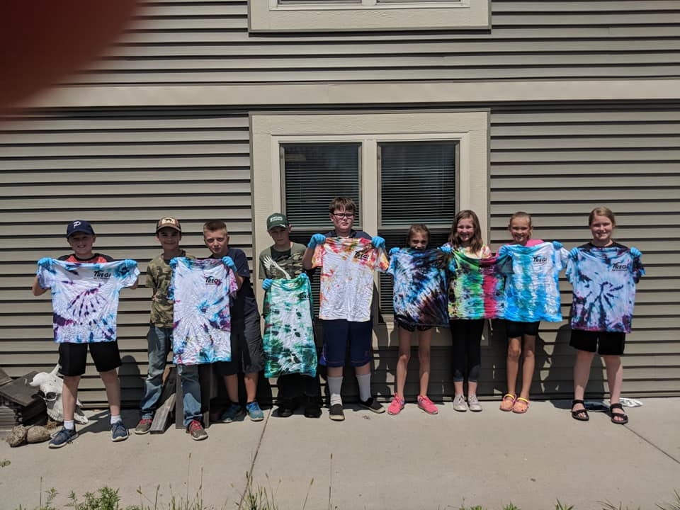 Session 1 with their Tie-dye creations