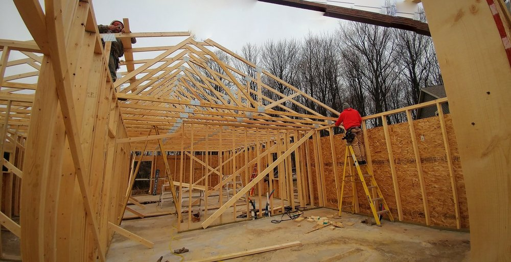 It will be so good to have a roof over our heads so work on the clinic can continue to work during the winter.:)]