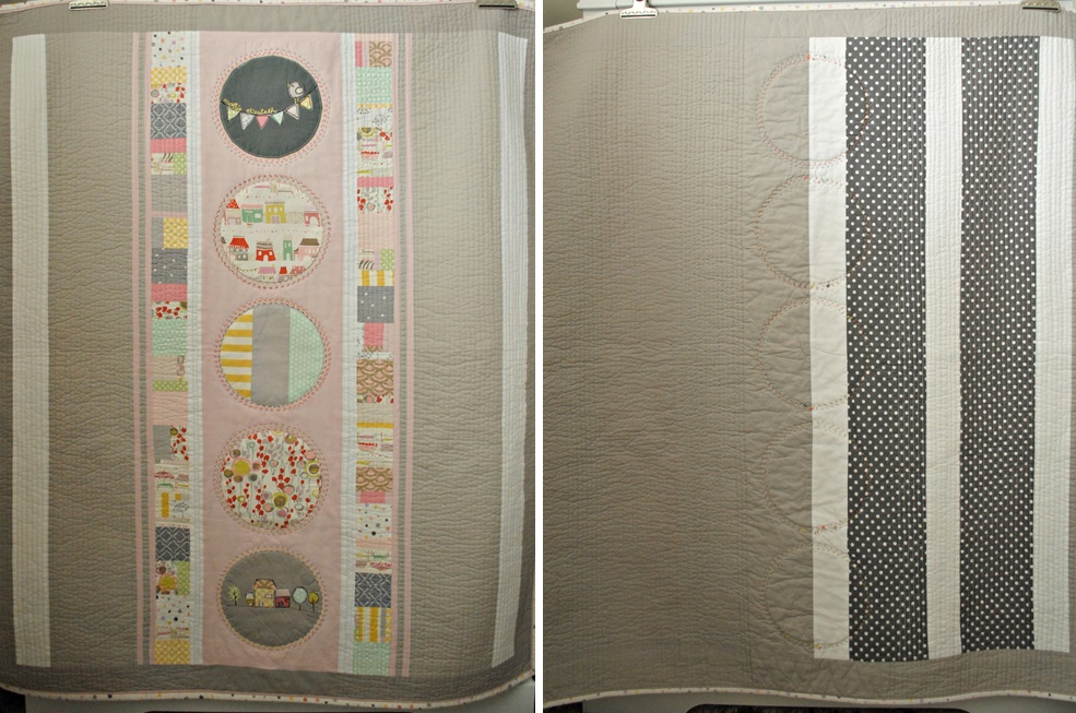 Front and back view of the quilt
