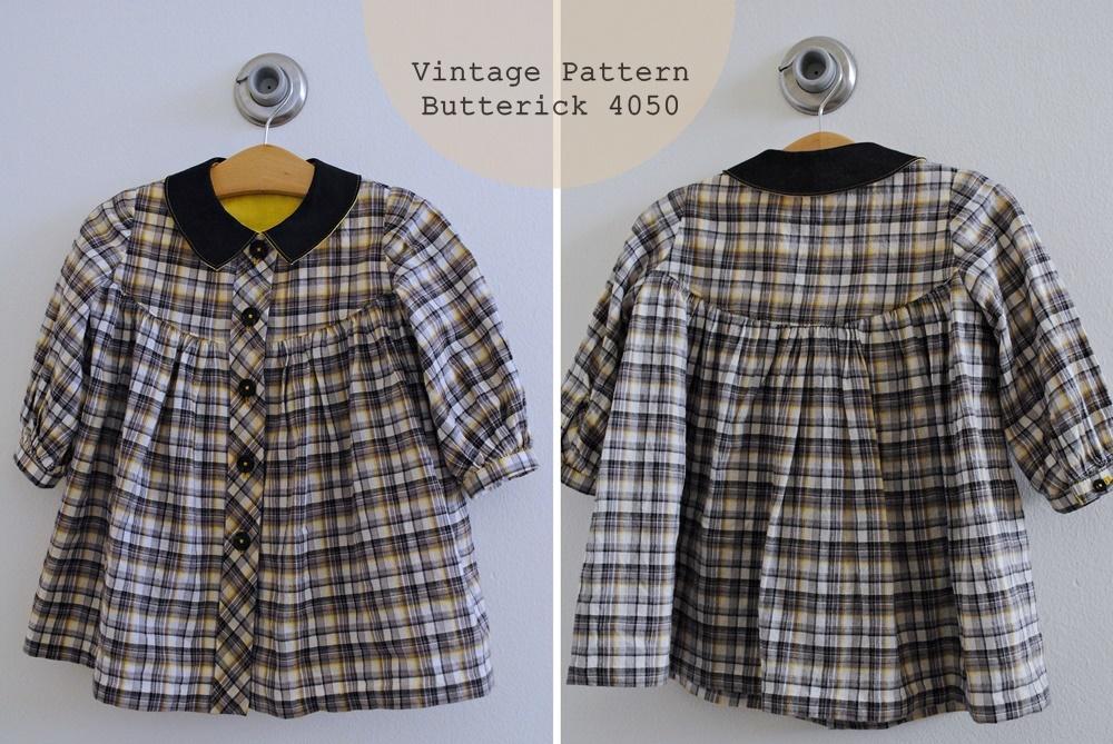 Vintage 1960's Butterick 4050