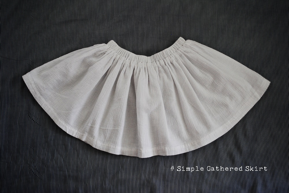 Simple Elastic Gathered Skirt