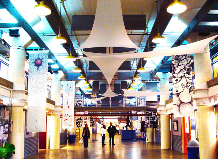 Inside the Torpedo Factory Art Center (source)