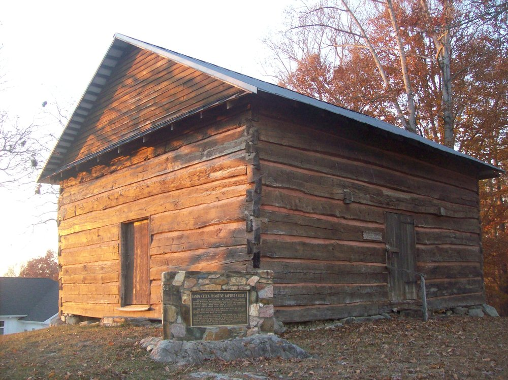 Sandy Creek Baptist Church- ancestor church of most churches in the South