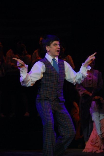 """Marcellus Washburn in """"The Music Man"""" at Solon High School"""