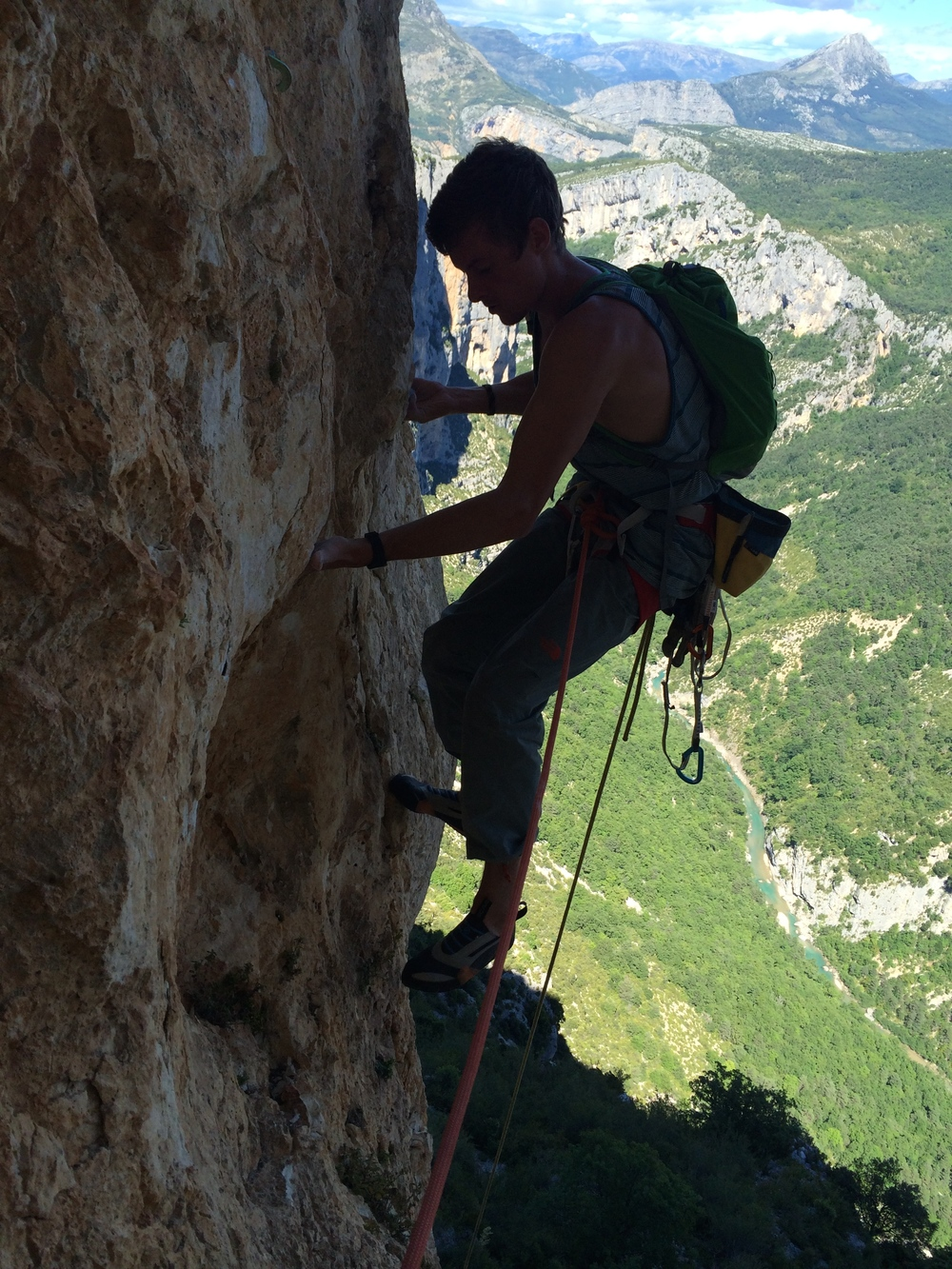 Palmer in the Verdon Gorge, France 2014