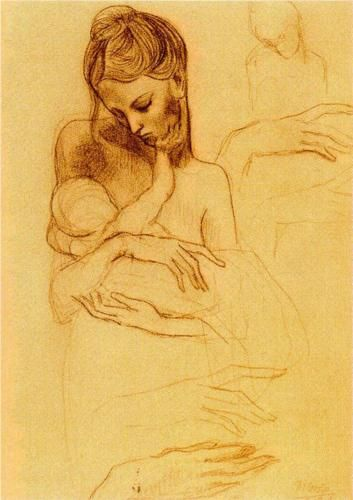 Mother and Child - Pablo Picasso ( source )