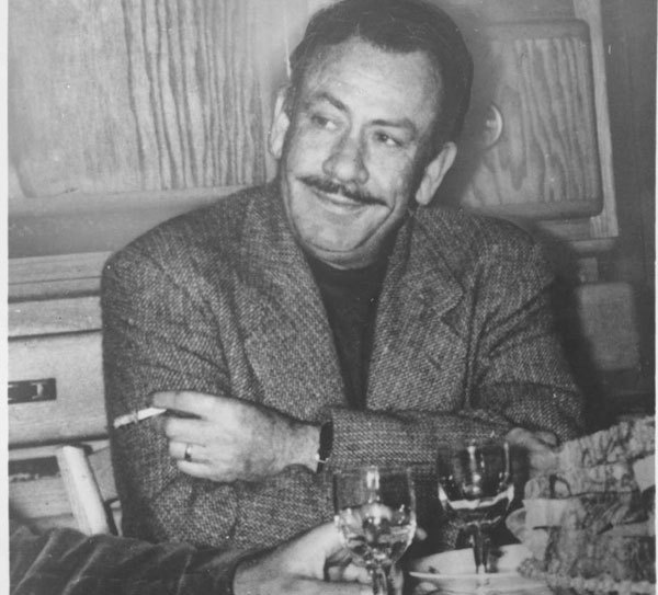 Here's a picture of how he would look at my dinner party. All happy and wonderful and I'd let him smoke in my house because he's effing STEINBECK