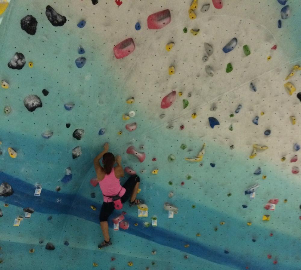 Tassy, Wall Climbing.