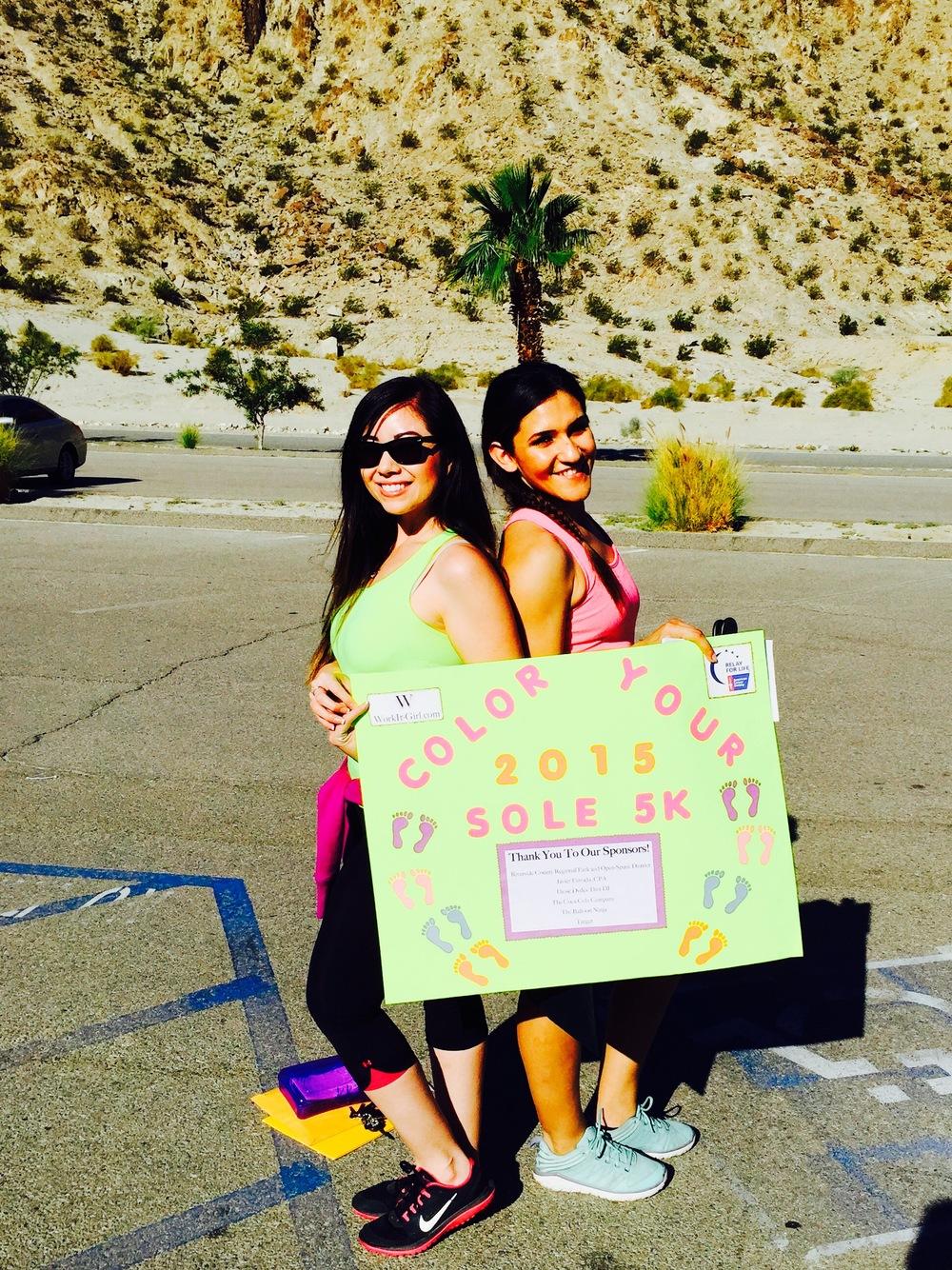 Color Your Sole 5k- A WorkIt-Girl.com Event @ Lake Cahuilla, La Quinta, CA.