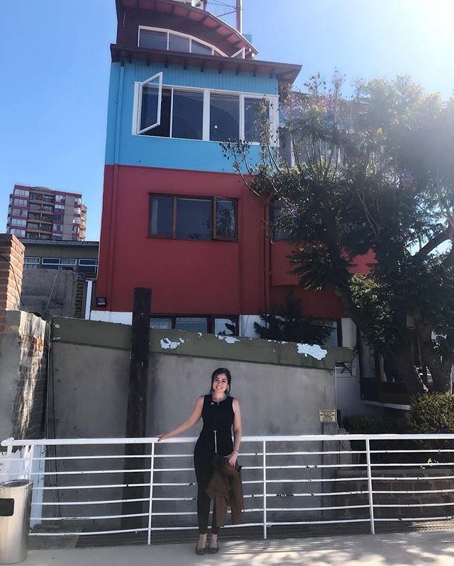 Had a fan girl moment at poet Pablo Neruda's house 🤩😍❤️ #PabloNeruda #poet #writer #nobelprizewinner #Chile