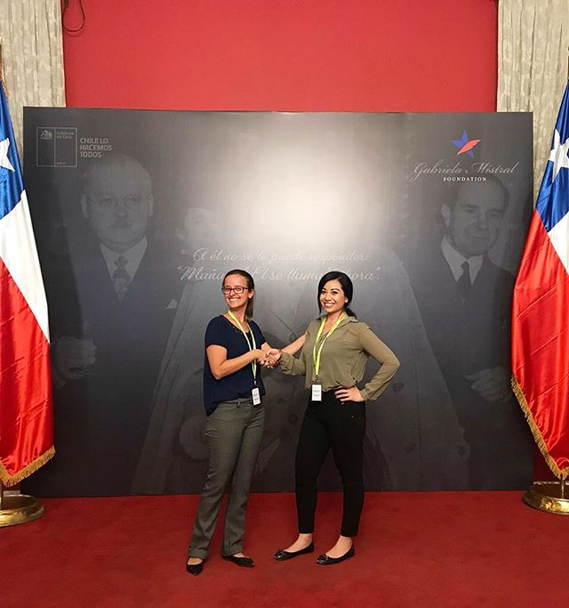 """""""Each time a woman stands up for herself, without knowing it, possibly without claiming it, she stands up for all women."""" - Maya Angelou  #WomenLeaders #presidentshouse #Chile"""