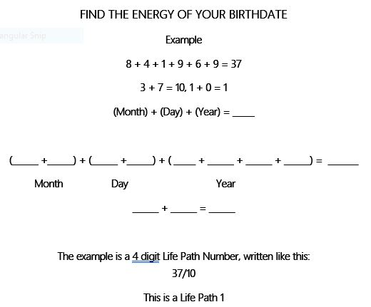 """Calculate your Numerology from Tricia Gunberg's """"Say Yes to Who You Are to Create Fitness"""""""