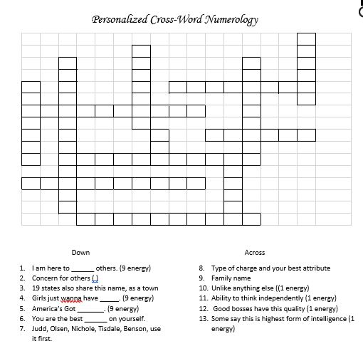 Cross Word puzzle for Tweens and Teens by Tricia Gunberg, author of #YouRock