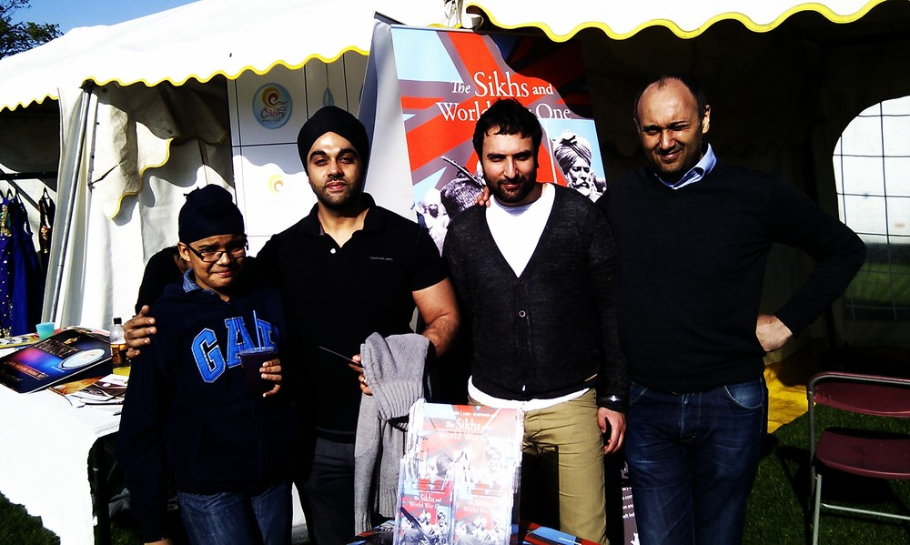 Mandeep and son from the Home Office, with Verinder and Harbakhsh from the home team
