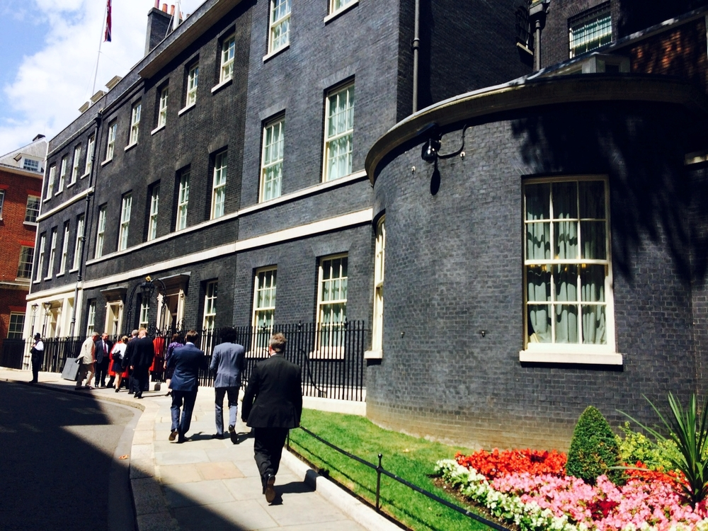 Downing Street in the sunshine