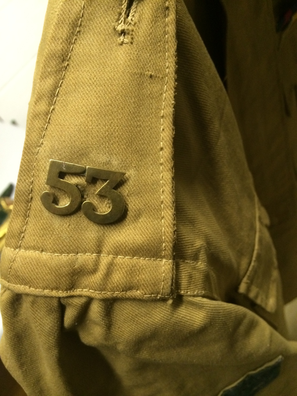 Arjan Singh's uniform (detail)